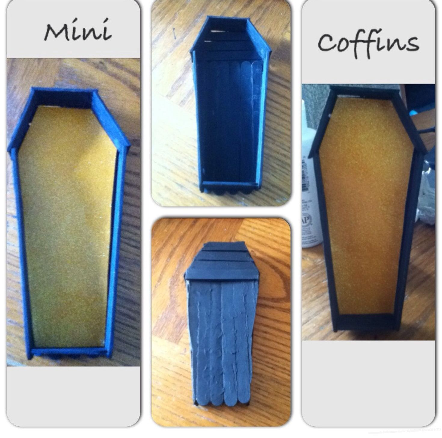 → handmade halloween decorations Coffin Mini coffin