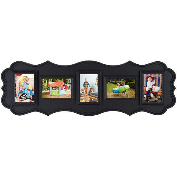 Lifetime Brands Black Five-Photo Curled Edge Collage Frame ($13 ...