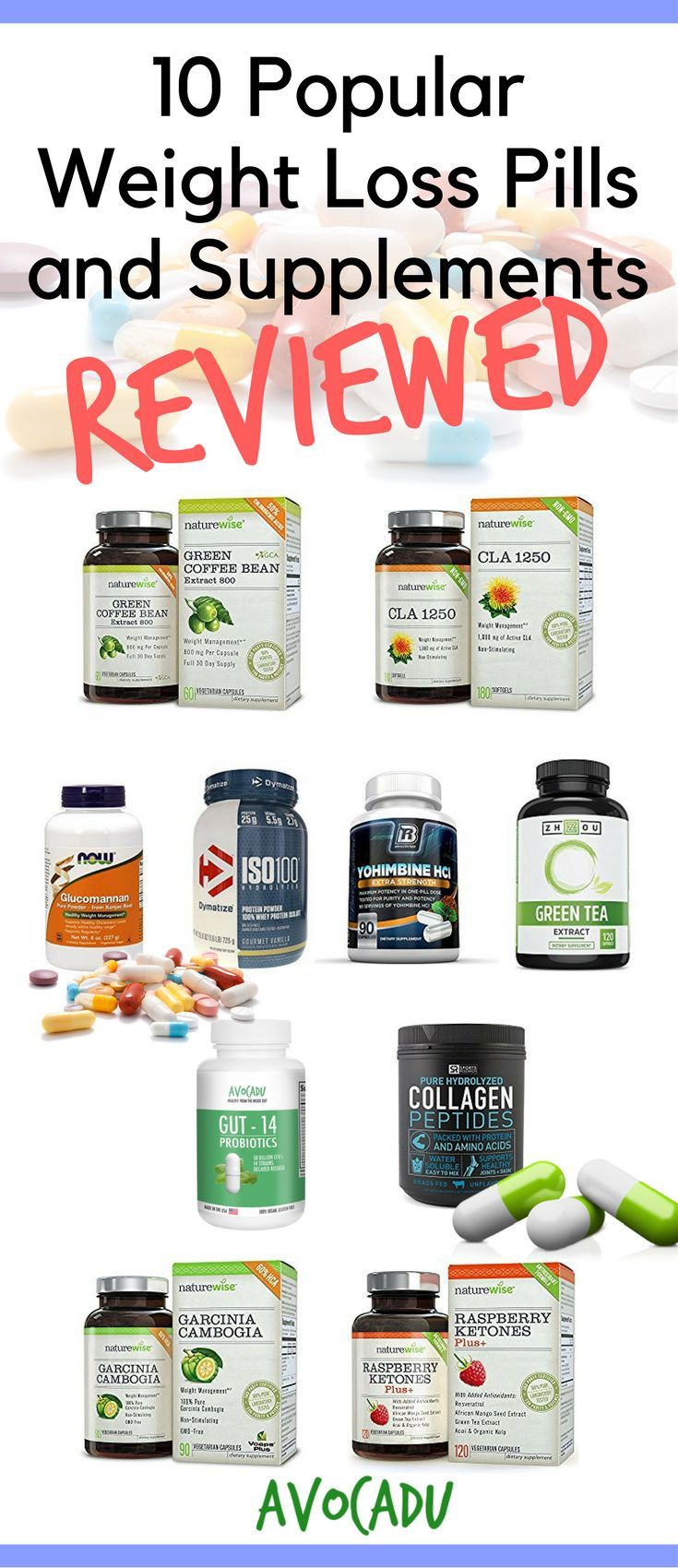10 popular weight loss pills and supplements reviewed | avocadu