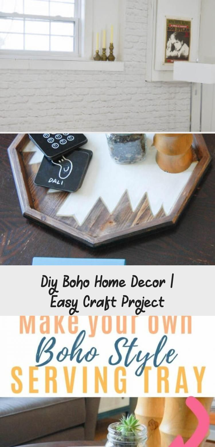 Boho decor inspiration with this DIY serving tray! Transform your home with bohemian style and a little bit of paint! (tutorial included). CLICK for the FULL STEP-by-STEP  #boho #bohodecor #easycraft #video #diypassion #HomeDecorDIYVideosOnABudget #HomeDecorDIYVideosCheap #HomeDecorDIYVideosProjects #HomeDecorDIYVideosBedroom #HomeDecorDIYVideosLivingRoom
