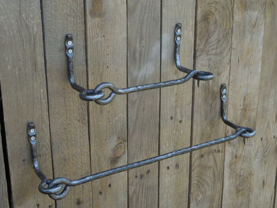 Set Of 1 Hand Forged Towel Bar 1 Toilet Paper Holder And 1 Towel