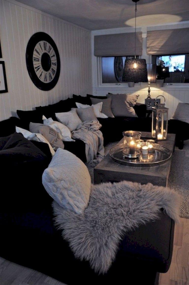 105 Spectacular Living Room Decor And Design Ideas Black Living Room Decor White Living Room Decor Black And White Living Room Decor