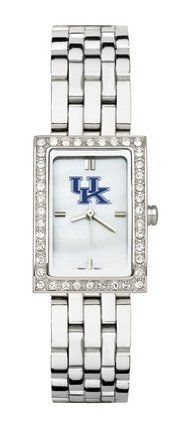 Kentucky Wildcats Women's Allure Watch with Stainless Steel Bracelet by Logo Art. $87.72. This women's fashion watch has a mother of pearl dial, Kentucky Wildcats color logo and raised hour markers.Features:Polished chrome finish alloy case with cubic zirconium crystalsComes with a stainless steel braceletContains Miyota quartz movementLimited lifetime warranty Team the watch up with a matching . Browse all of our Other are also available for the Kentucky Wi...