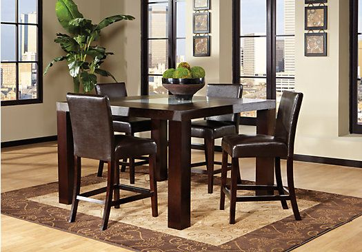 Shop For A Marsdale Brown 5 Pc Dining Room At Rooms To Gofind Unique Rooms To Go Dining Room Set Decorating Design