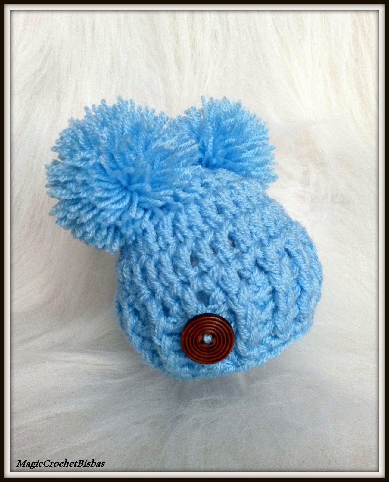 Crochet little BOY hat photo prop gift baby shower @@@