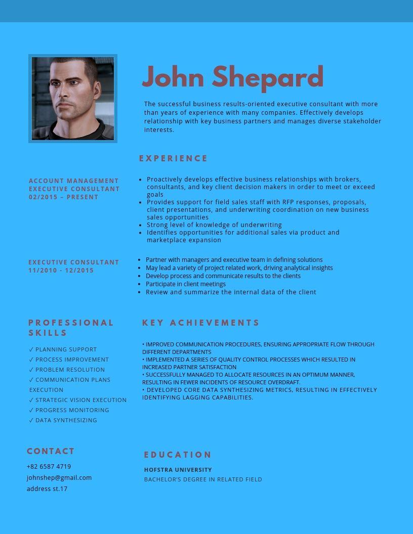 Executive Consultant Resume Sample Executive consultant