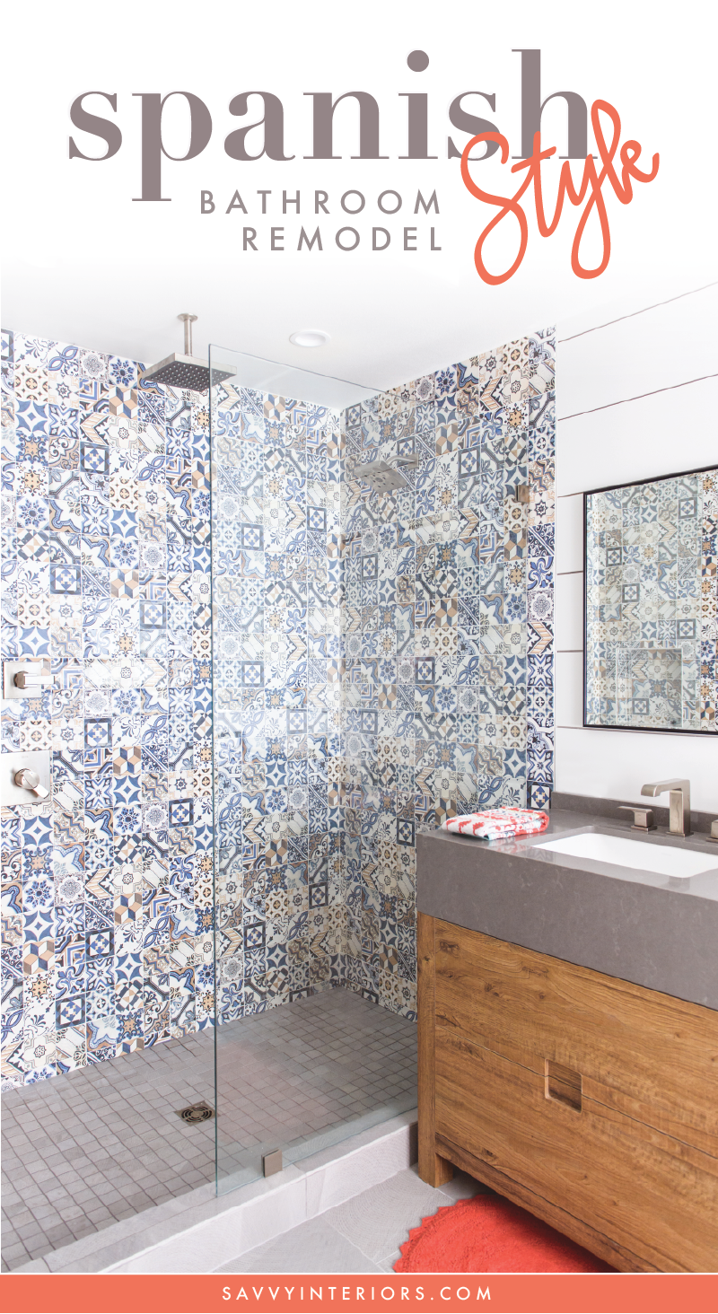 Spanish Tile Bathroom Remodel in San Diego, CA by top-rated interior ...