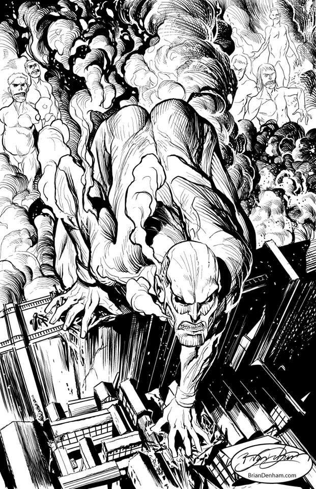 ATTACK ON TITAN- I drew another Milo Manara pose I thought to