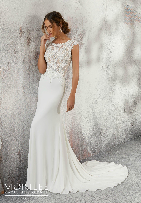 Mori lee madeline gardner wedding dress  Lesley Wedding Dress  Blu Fall u  Morilee by Madeline Gardner
