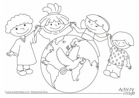 World Peace Day Coloring Pages Family Coloring Pages World