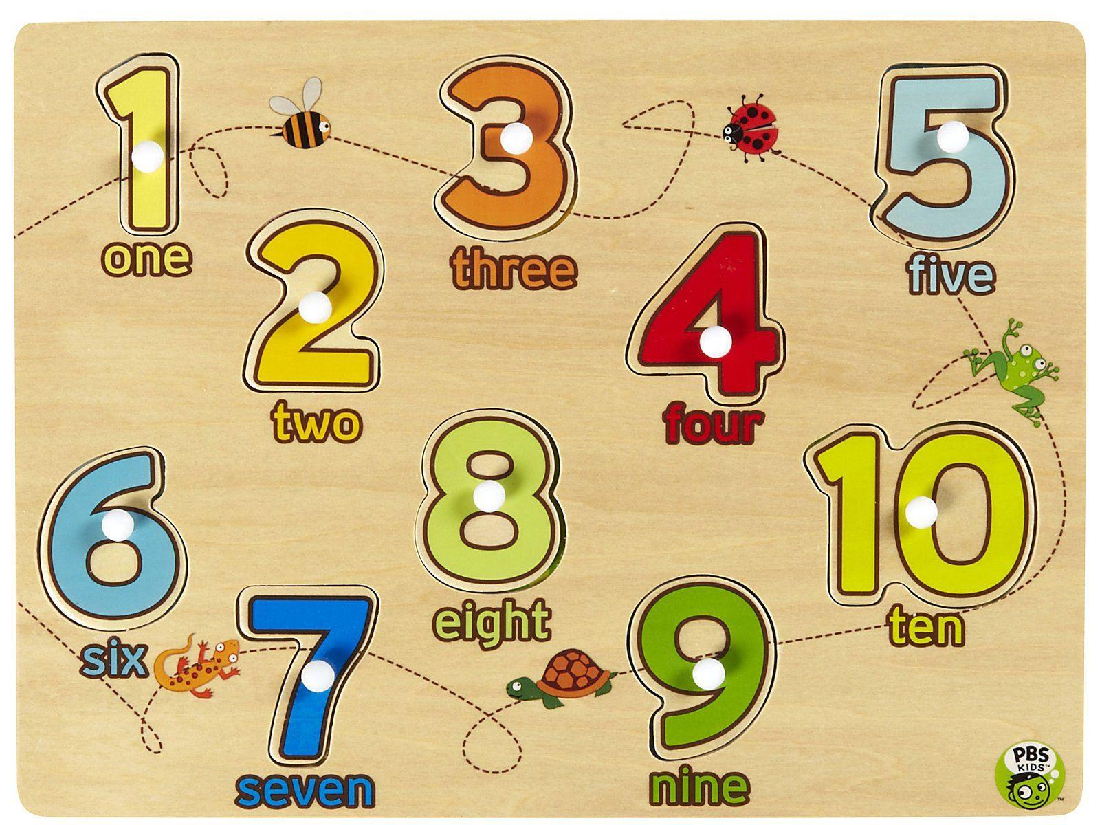 Pbs Kids Peg Puzzle 123 10 Pc Pbs Kids Pbs Kids