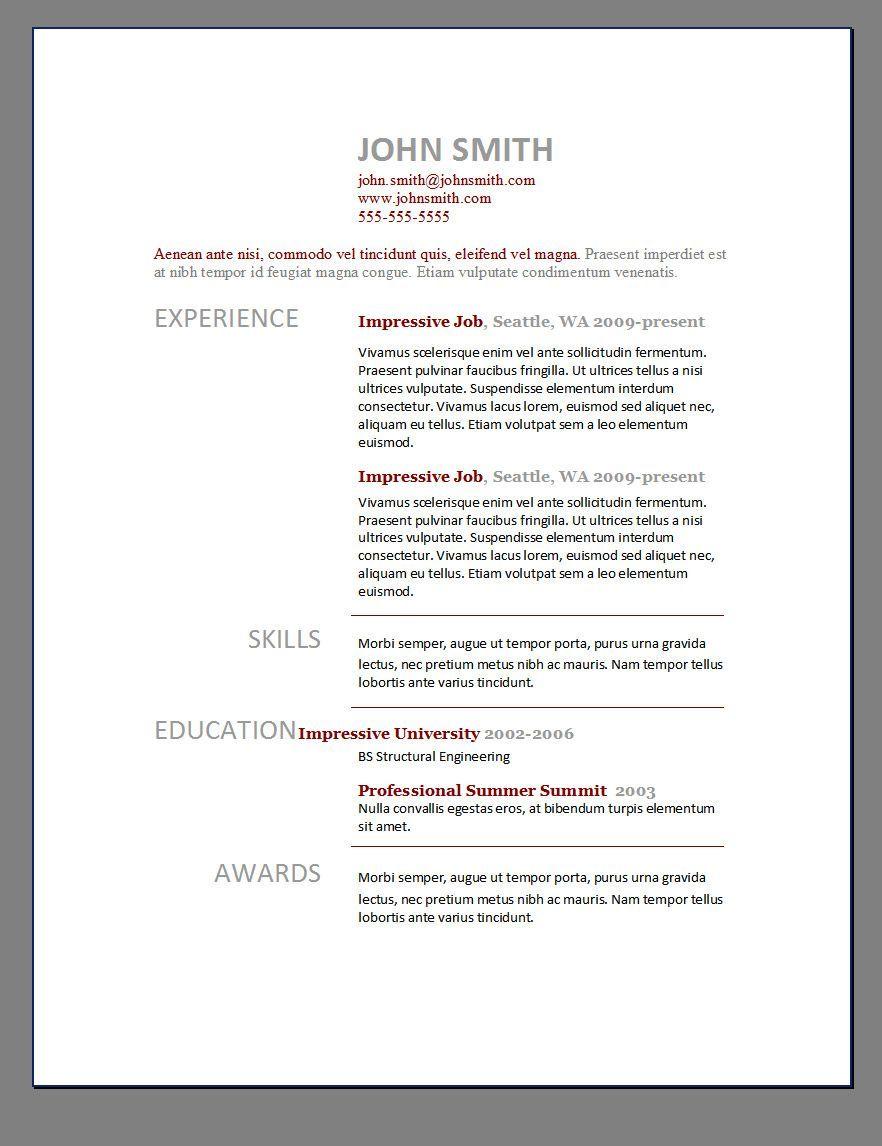 Free Resume Templates Elegant , elegant