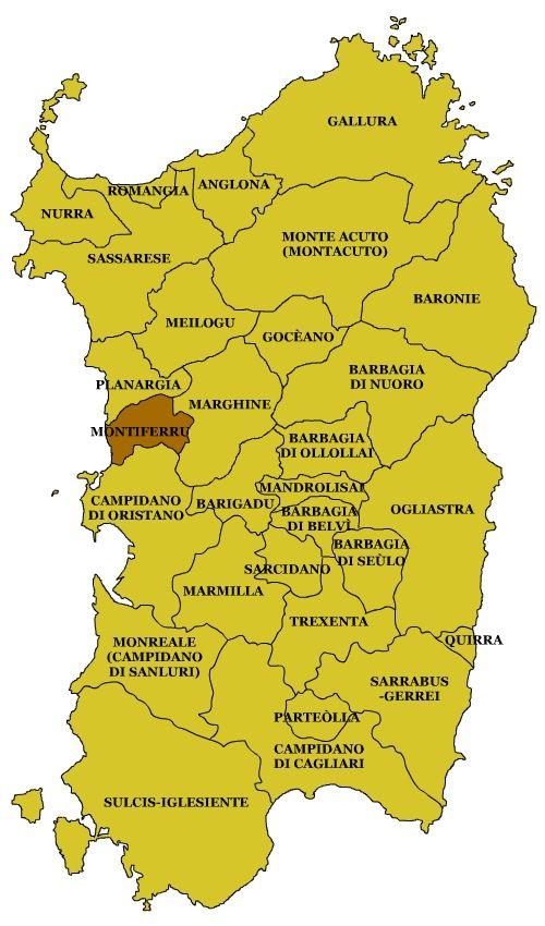 Mappa E Cartina Di Sardegna.Subregioni Sardegna Sardinia Italy Sardegna Sardegna Italia E