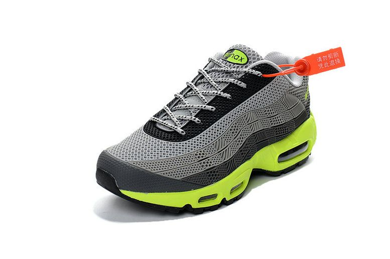 sale retailer 88ab3 fcce8 Free Shipping Only 69  Nike Air Max 95 ID Kup MENS SHOES black grey lime