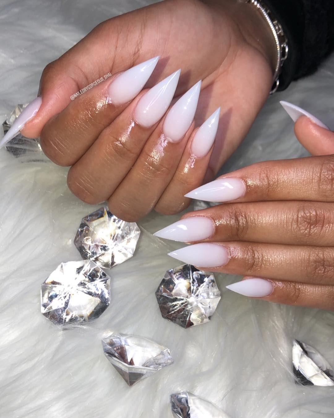 Alexismpins Stiletto Nails Glitter Nails Ombre Acrylic Nails