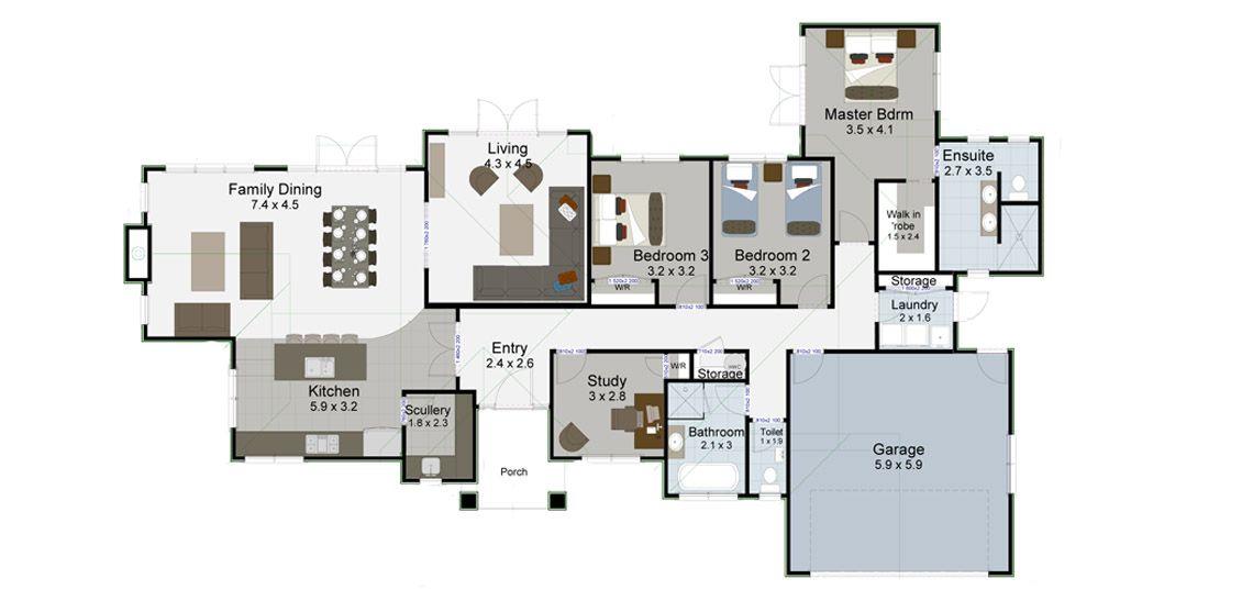 abel tasman showhome floor plan taranaki builders landmark homes nz - House Plans Landmark Homes New Zealand
