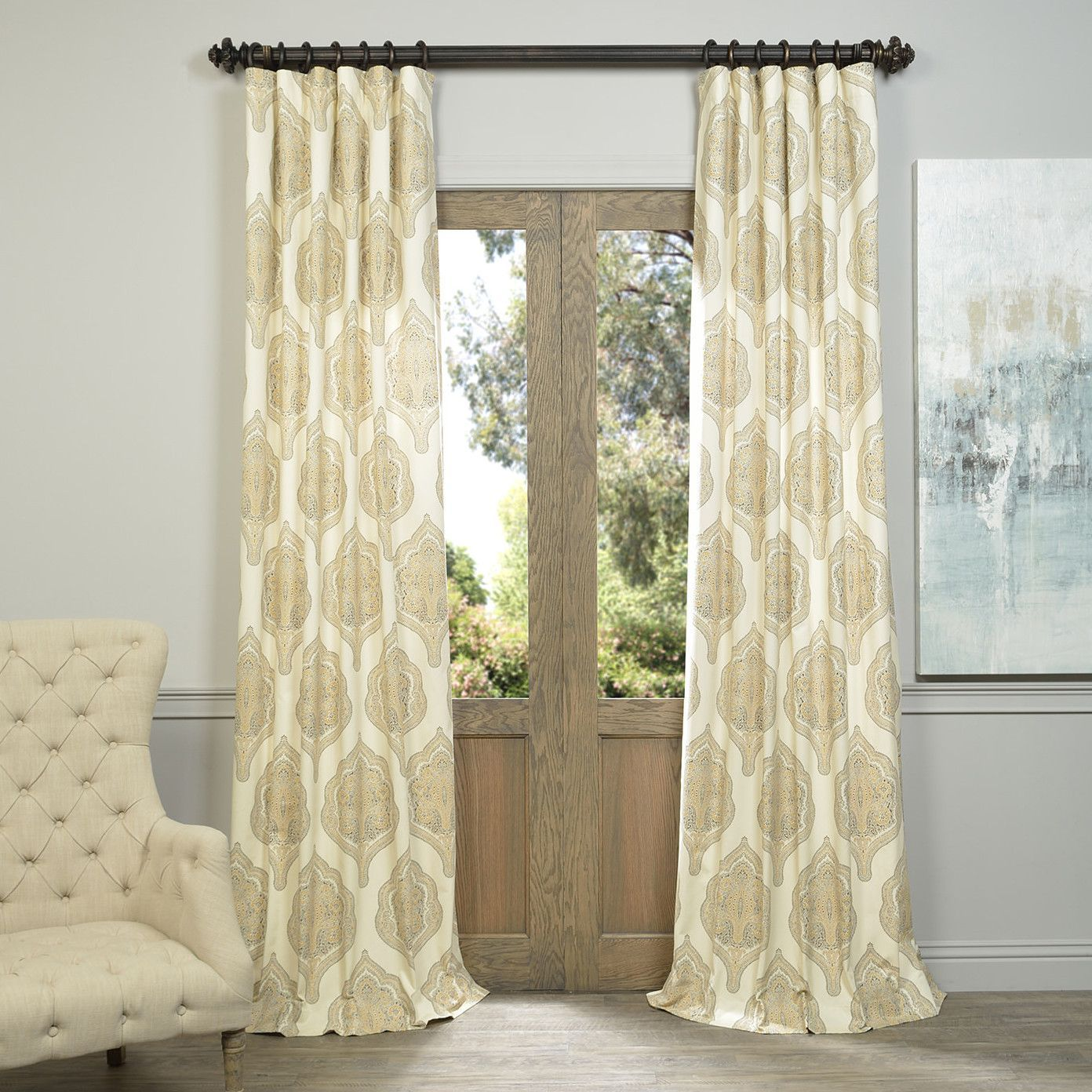 Arabesque Curtain Panel   Products   Pinterest   Arabesque and Products
