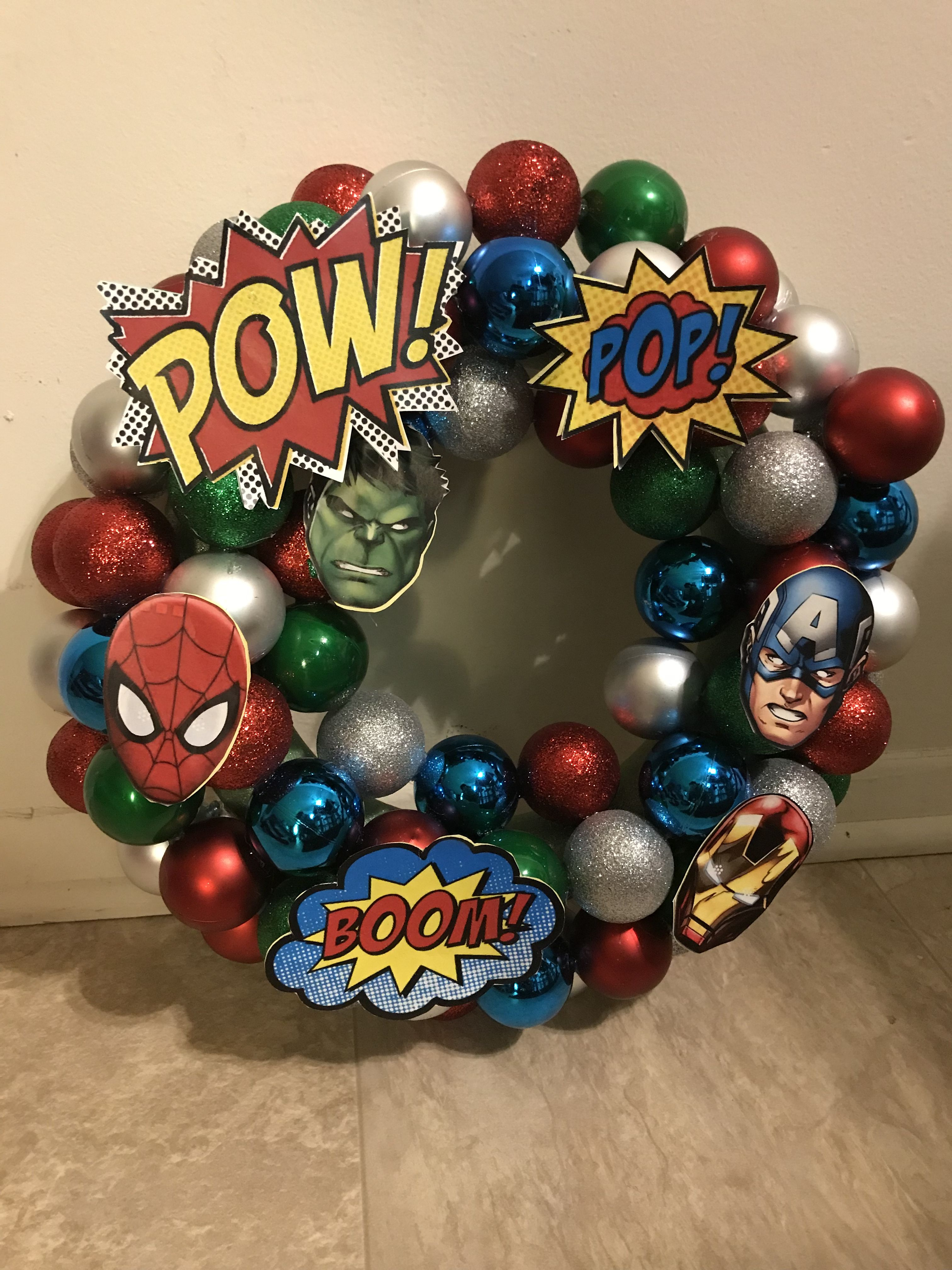 Superhero Christmas Wreath. Wreaths are $40.00 by Alexis ...