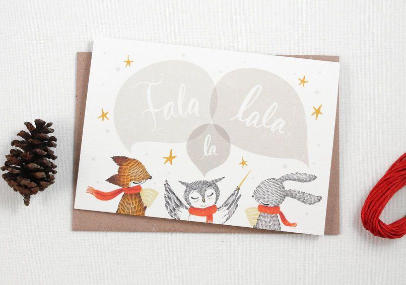 Fala lala la greeting card christmas cards holiday