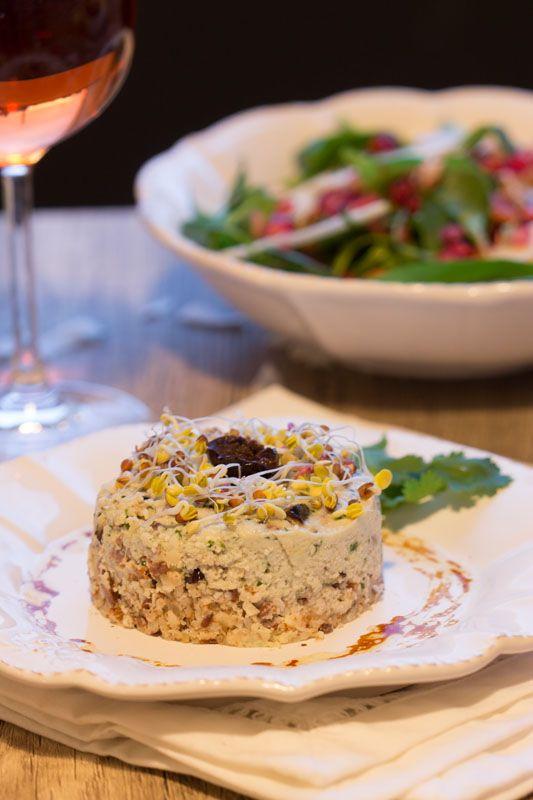 Cheesecake de cajou aux olives noires (vegan