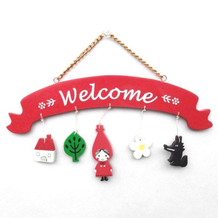 SmartZakka | Rakuten Global Market: Red cowl wooden goods Welcome signature Shinzi Katoh design red hood Welcome sign