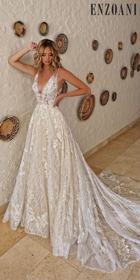 Wedding Dress Inspiration | Enzoani 2019 #bohoweddingdress