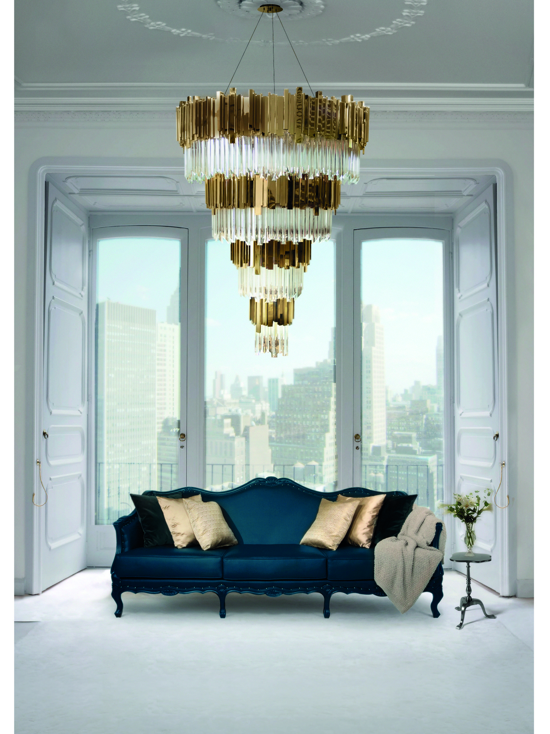 The Empire Chandelier Is Inspired In The Stunning Architectural Empire  State Building. #lightingdesign #moderndesign #chandelier Luxury Homes, ...