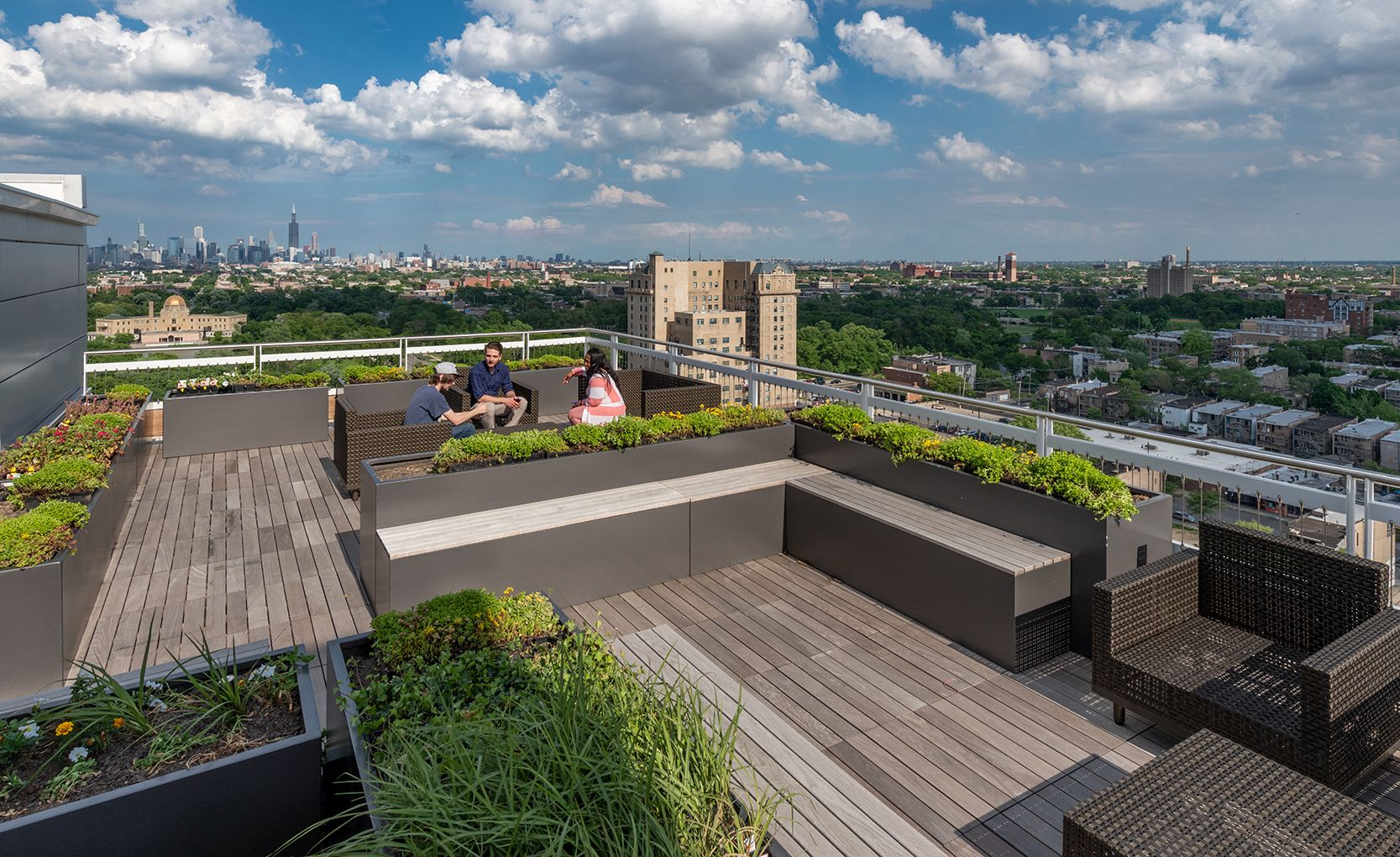 Several Key Building Amenities Are Sited On The Top Floor Encouraging Residents To Enjoy Breathtaking Views From The Roof Deck Roof Garden Roof Deck Deck