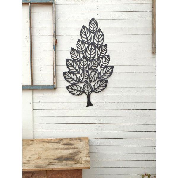 Metal Tree Wall Decor Iron Leaf Large Wall Decoration Country Home ...