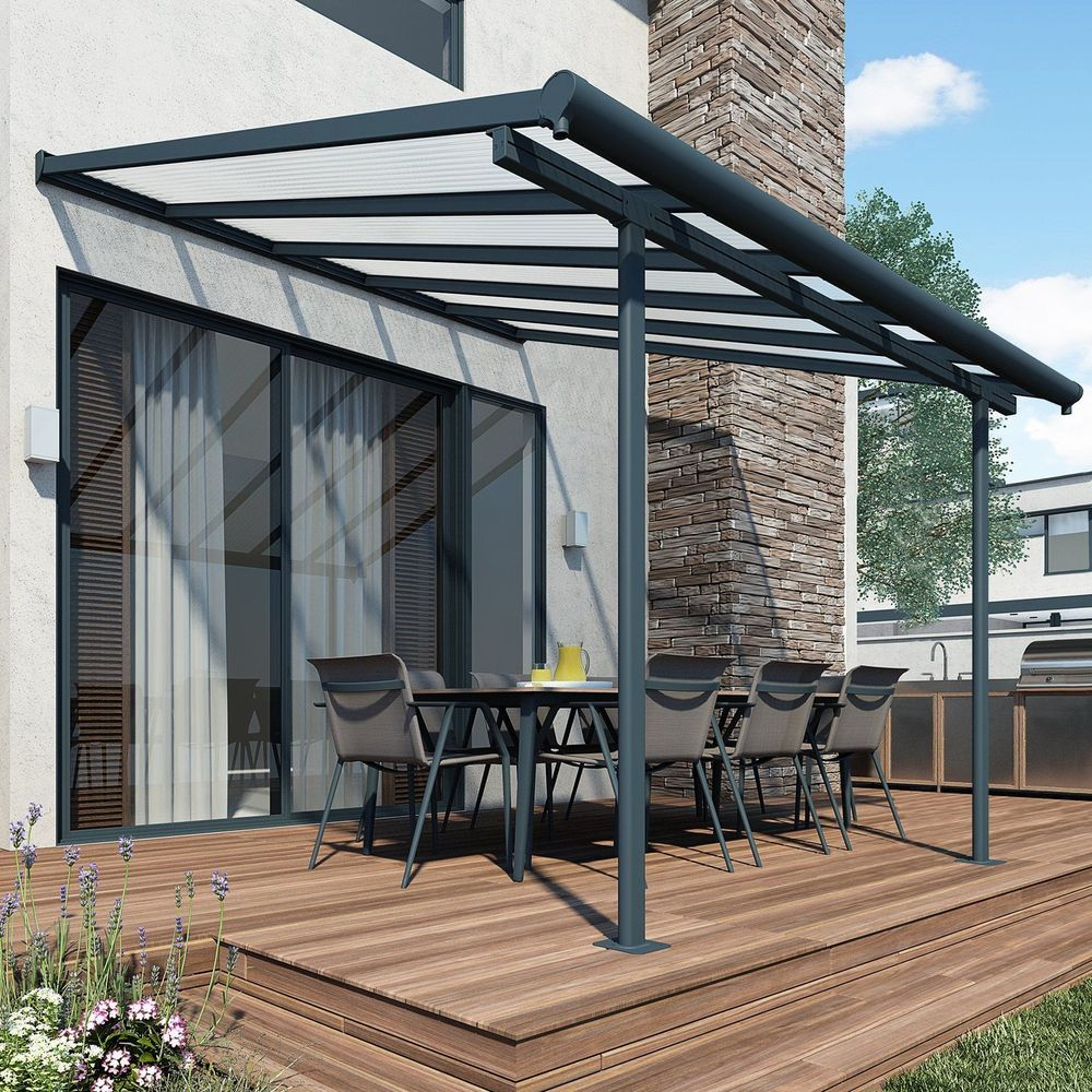 Details About Patio Cover Awning Garden 3m X 915m Outdoor Canopy Shelter UV Protection Large