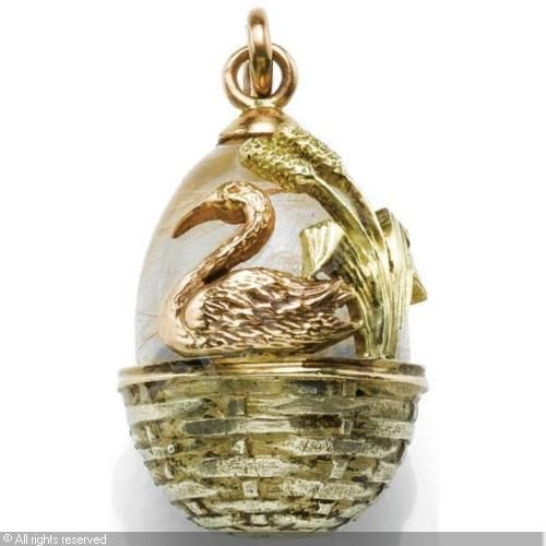 Faberg egg pendant c 1908 1917 workmaster fedor afanasev two faberg egg pendant c 1908 1917 workmaster fedor afanasev two colour gold rock crystal offered sothebys l06111 lot 322 the russian sale aloadofball Gallery
