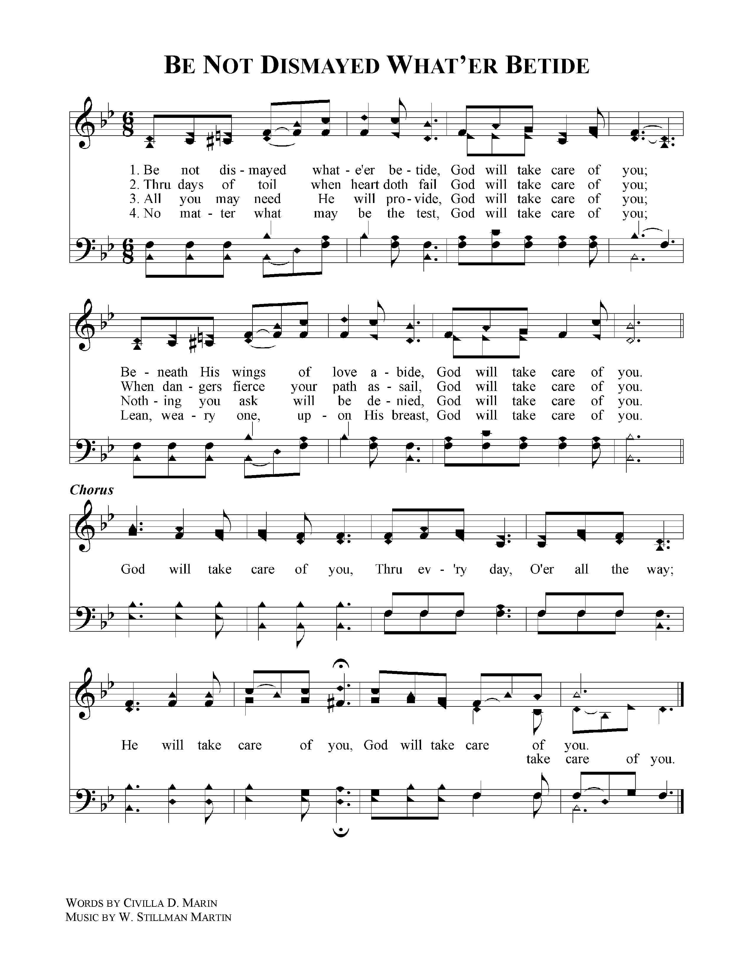 God will take care of you christian songs music lyrics