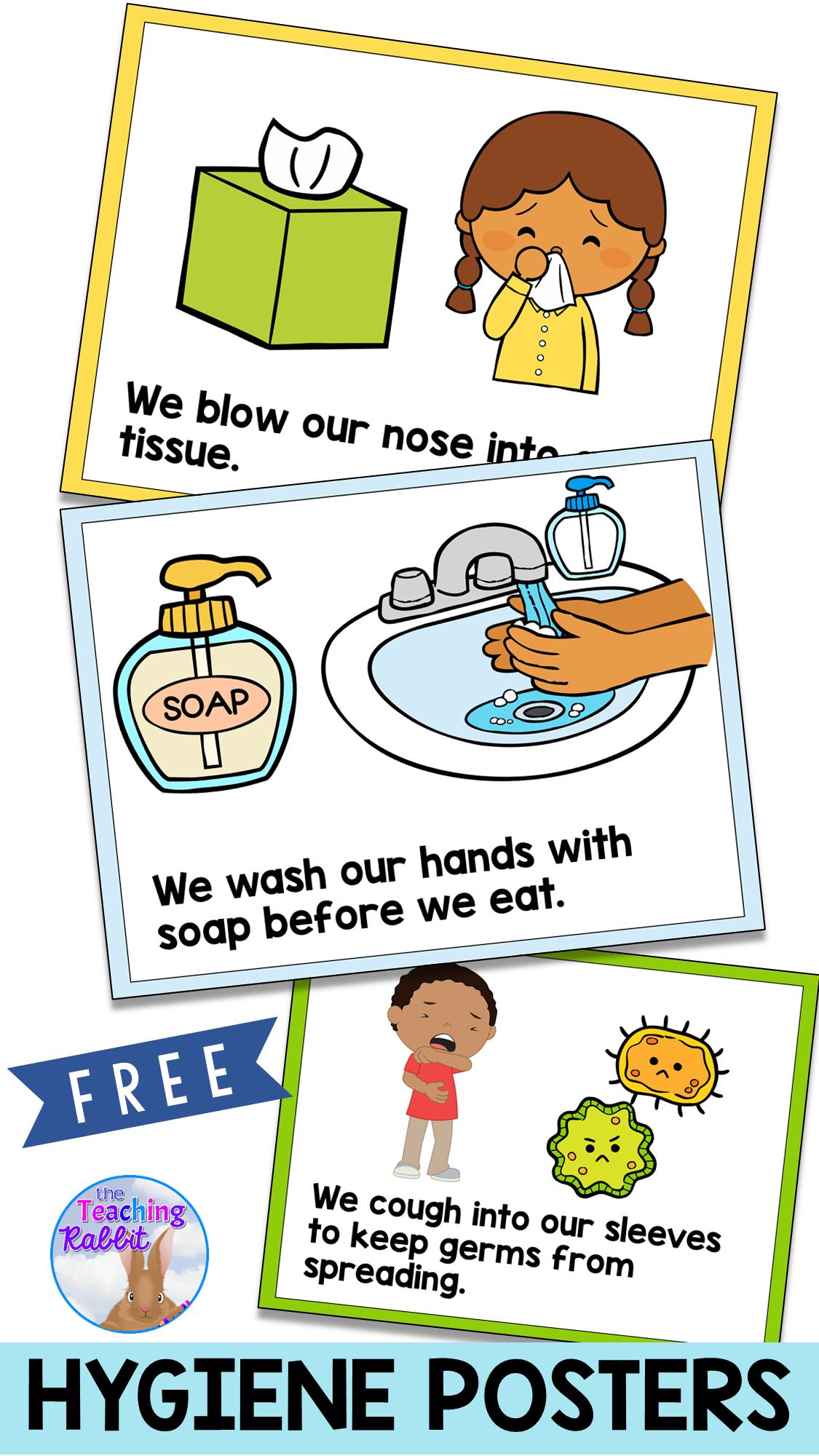 Hygiene Posters Preschool Learning Preschool Classroom School Activities [ 2000 x 1125 Pixel ]