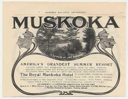 Summer Resort Muskoka Hotel Lake Rosseau Ontario 1905