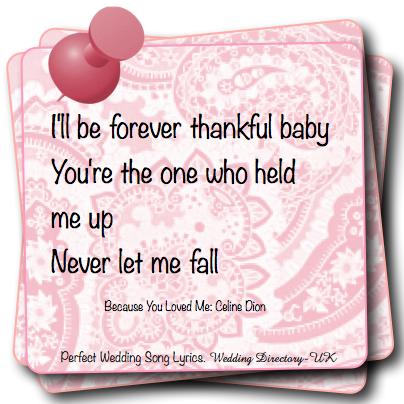 Perfect Wedding Song Love Quote Lyrics Directory UK WDUK Ideas