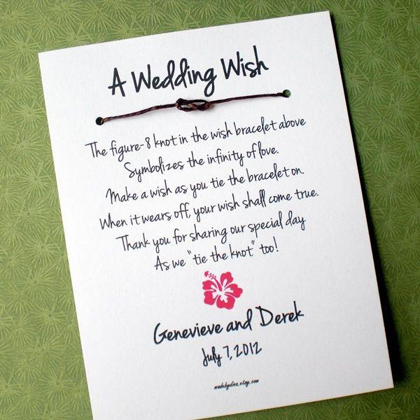 Hawaii Island A Wedding Wish Infinity Love Knot Bracelet Favor Custom Made For You Favors Robin