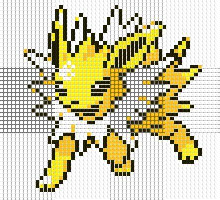 Pixel Art Pokemon En 2020 Point De Croix Pokemon Pixel Art Pokemon Grille Pixel Art