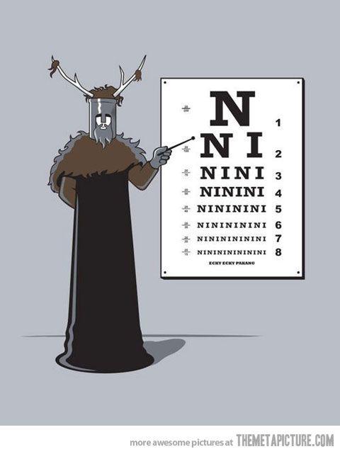 "Knights Who Say Ni Meme : knights, Knights, ""Ni""…, Monty, Python,, Lustig,, Ritter, Kokosnuss"