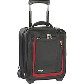 """Verticle laptop bag.  It sucks to have to pick up your bag and cary it down the aisle because it is too wide to fit between the seats.  With a vertical bag you can roll it alone or """"train"""" it to your suitcase and move easily.  Do not stack your laptop bag on your suitcase top, it is much harder to pull and wears out your arm, shoulder, suitcase handle and wheels.  Attach to the front of your rollerbag and let them """"train"""".  Much nicer for you and your suitcase."""
