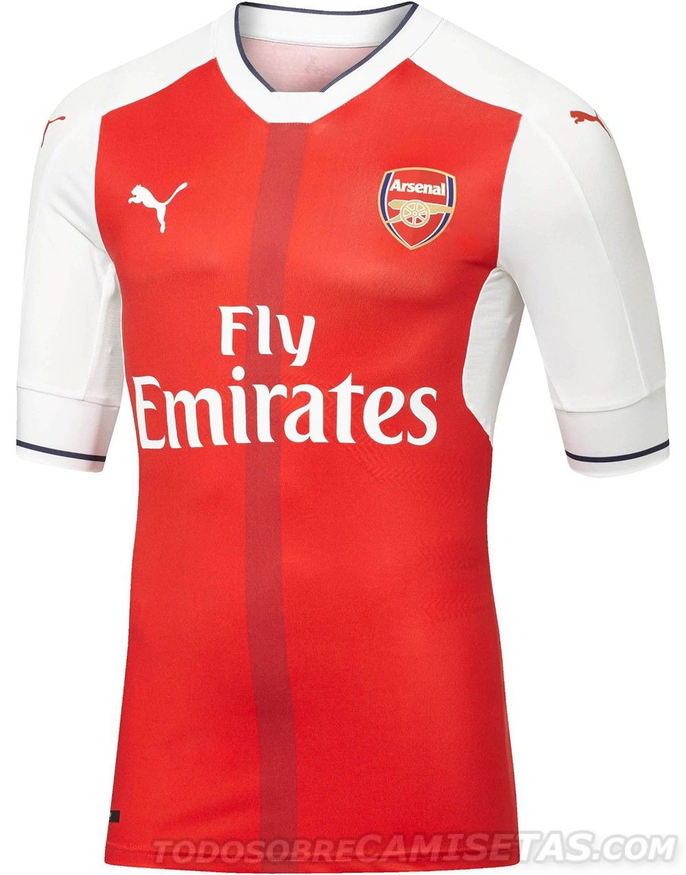 Arsenal 16 17 Puma Home Kit | Camisa de fútbol, Camisetas