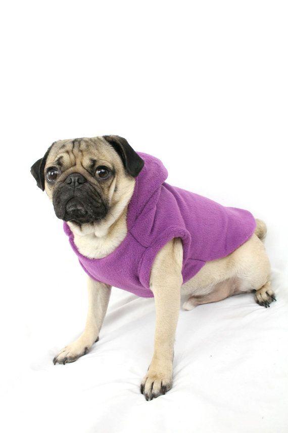 Fleece Dog Hoodie – Purple http://europug.eu/product/fleece-dog-hoodie-purple/