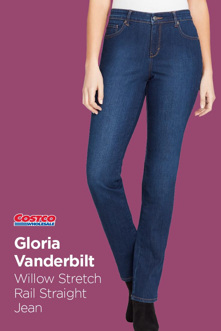Gloria Vanderbilt Ladies Willow Stretch Rail Straight Jean In 2019