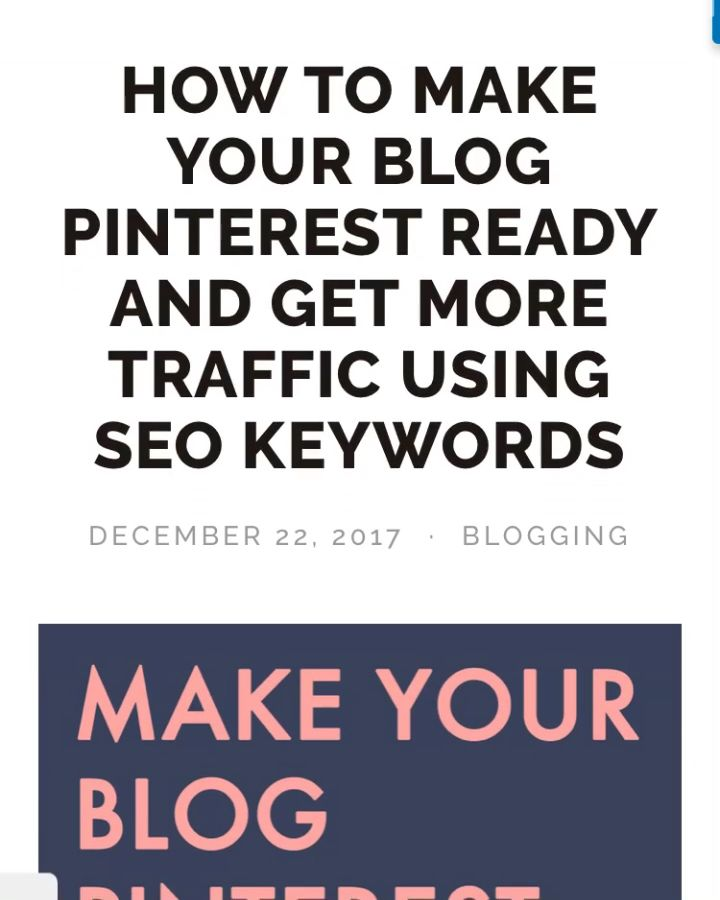 How to make your blog Pinterest ready