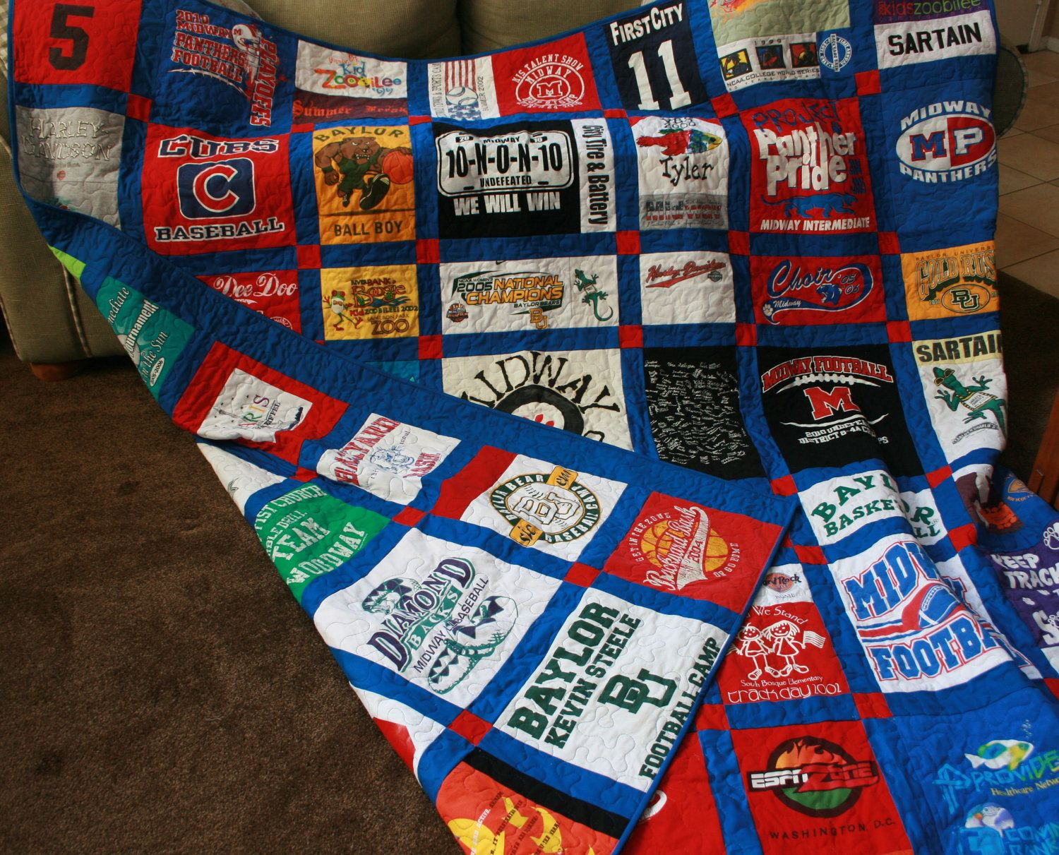 tshirt blanket enough tshirts, do on both sides | Quilts ... : pinterest t shirt quilt - Adamdwight.com