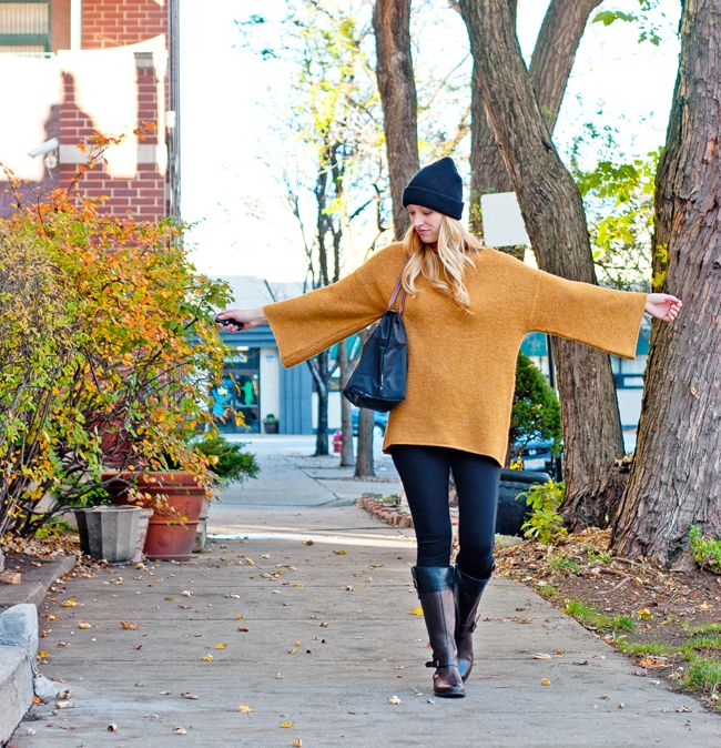 a5549ff0fac Oversized Camel Sweater + Lou and Grey Leggings + Wolverine Ride ...