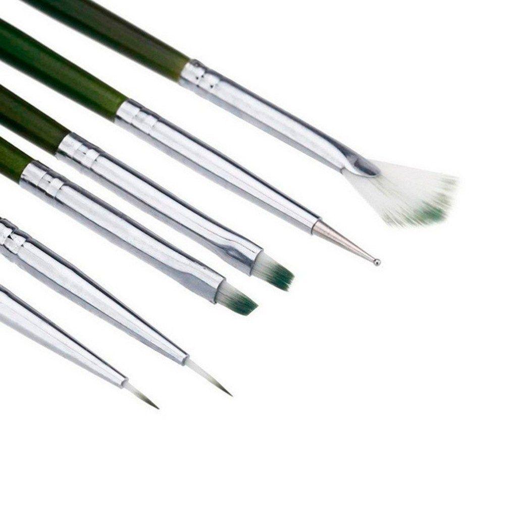 6 Sets Of Nail Brush Handle Nail Art Acrylic Uv Gel Extension Brush Flower Design Drawing Painting Pen Set Paint Pen Sets Flower Drawing Design Nail Brushes