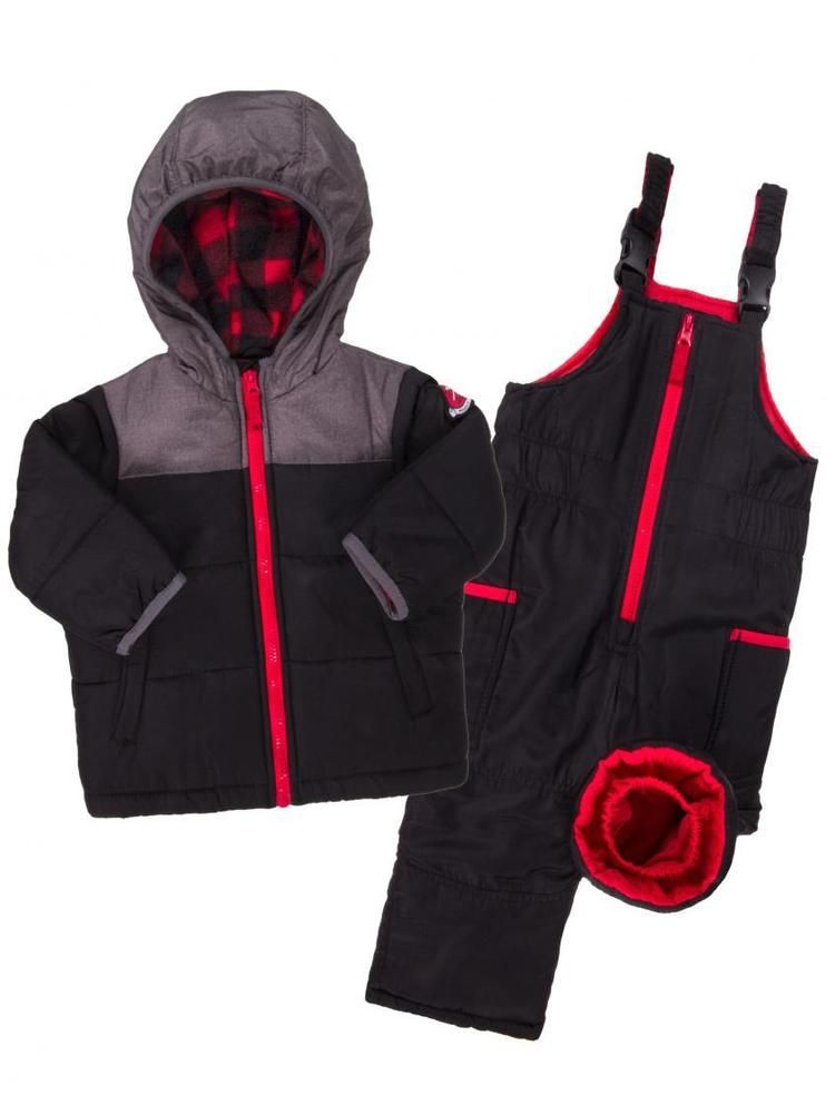 652b88a4f CARTER S TODDLER BOYS BLACK 2-PIECE SNOW SUIT 3T Snowpants Coat ...