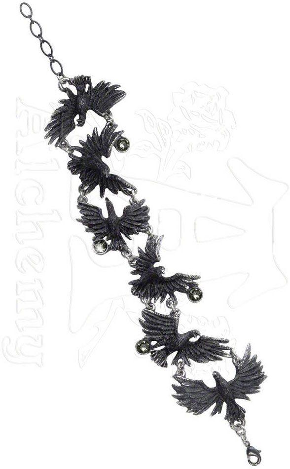 Alchemy Gothic Flocking Ravens Bracelet