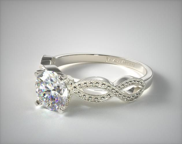 50 Best Engagement Rings with Gemstones White gold Engagement