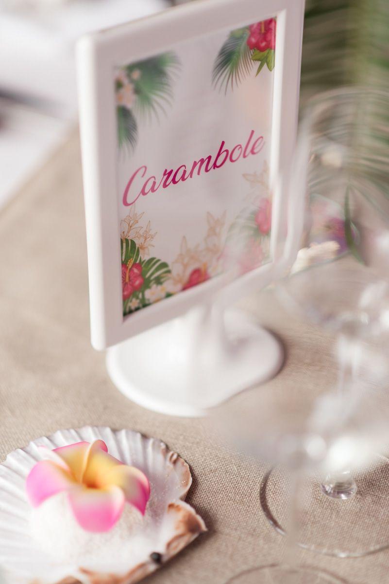 Des Noms De Fruits Exotiques Pour Les Noms Des Tables D Un Mariage Au Theme Tropical Mariage Deco Mariage Decoration Mariage
